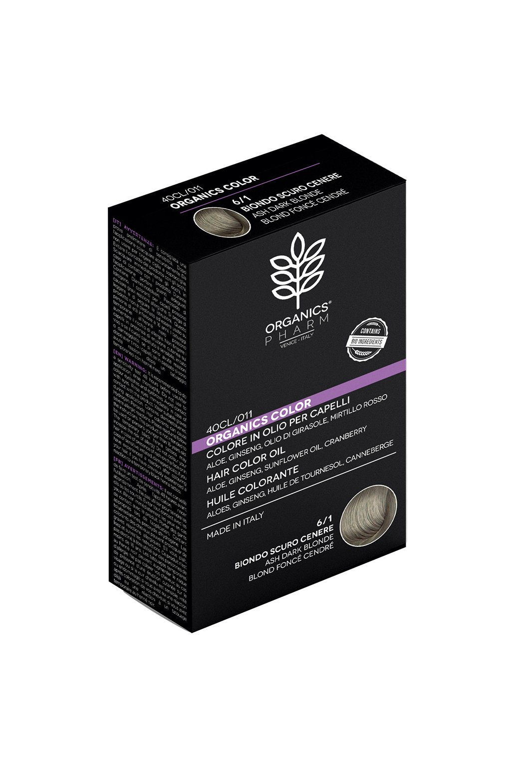 ORGANICS PHARM Organics Color Hair Color Oil 122ml 6 1 Ash Dark Brown