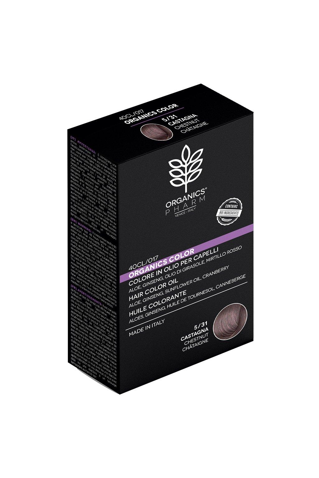 ORGANICS PHARM Organics Color Hair Color Oil 122ml 5 31 Chestnut