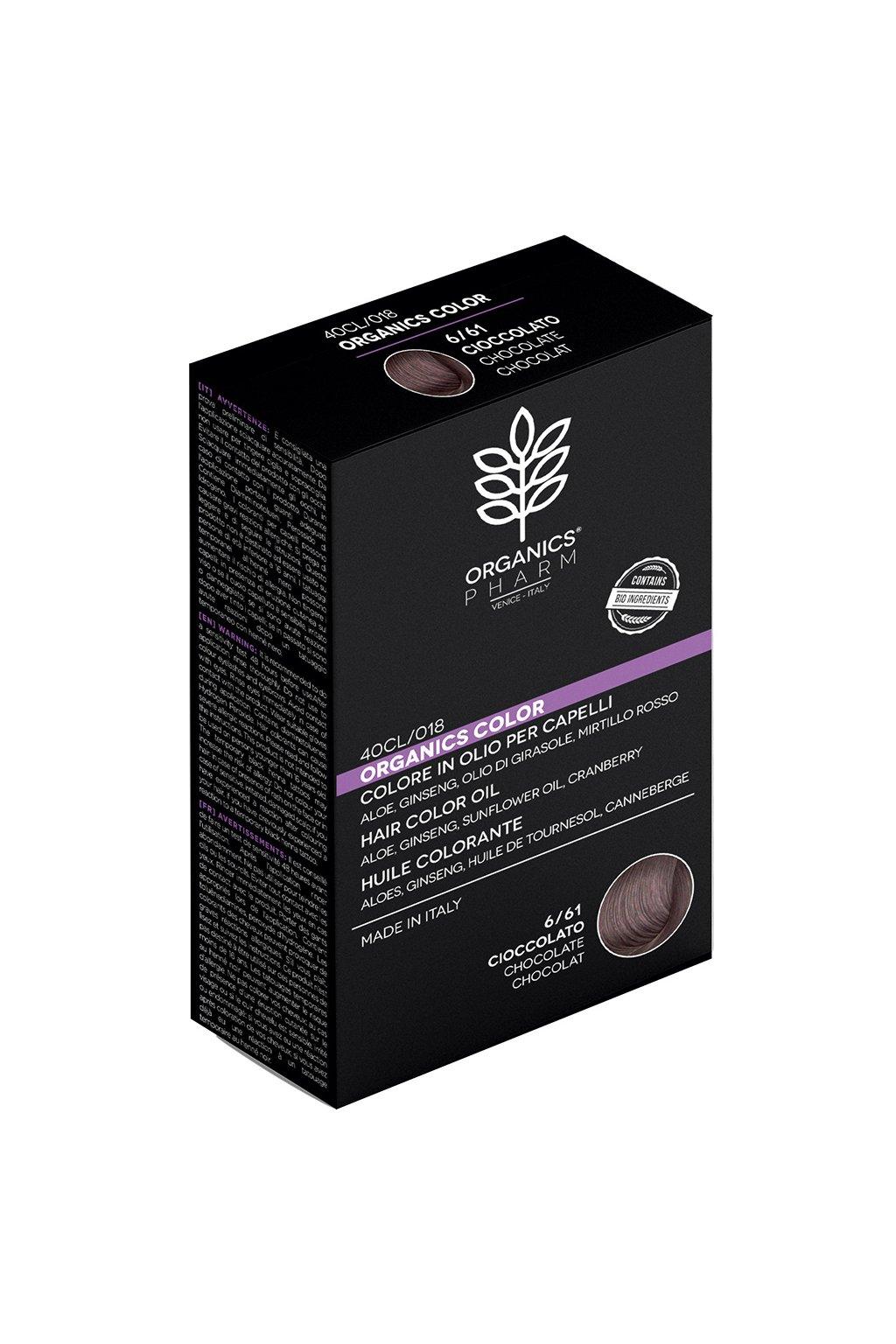 ORGANICS PHARM Organics Color Hair Color Oil 122ml 6 61 Chocolate