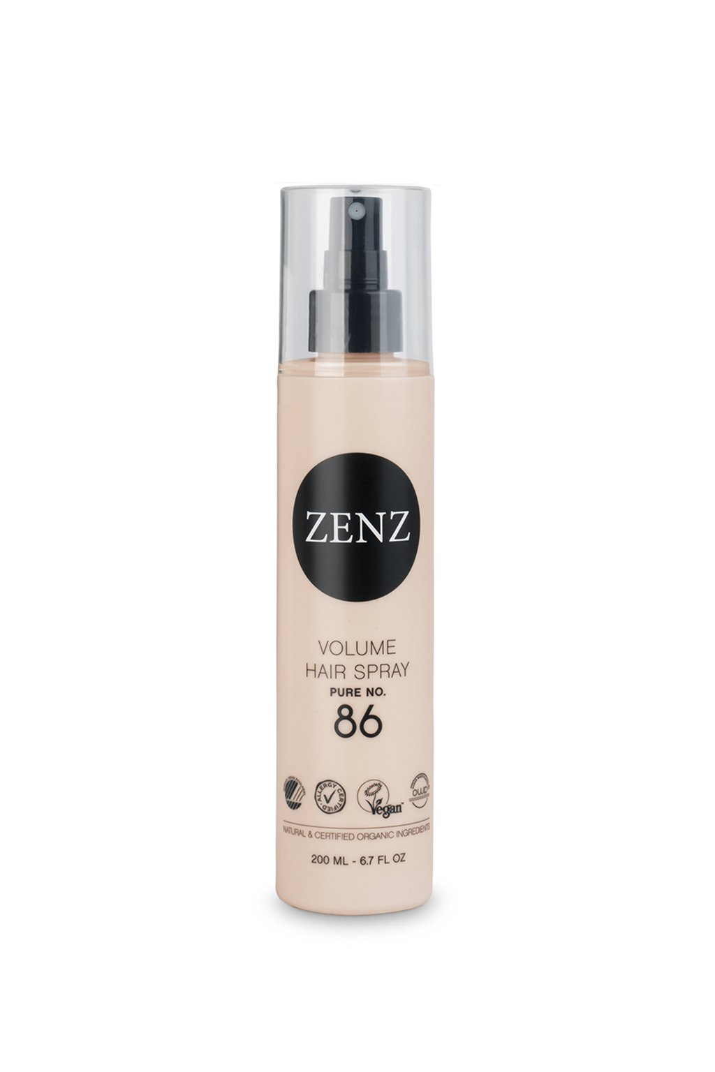 zenz pure volume hair spray 86