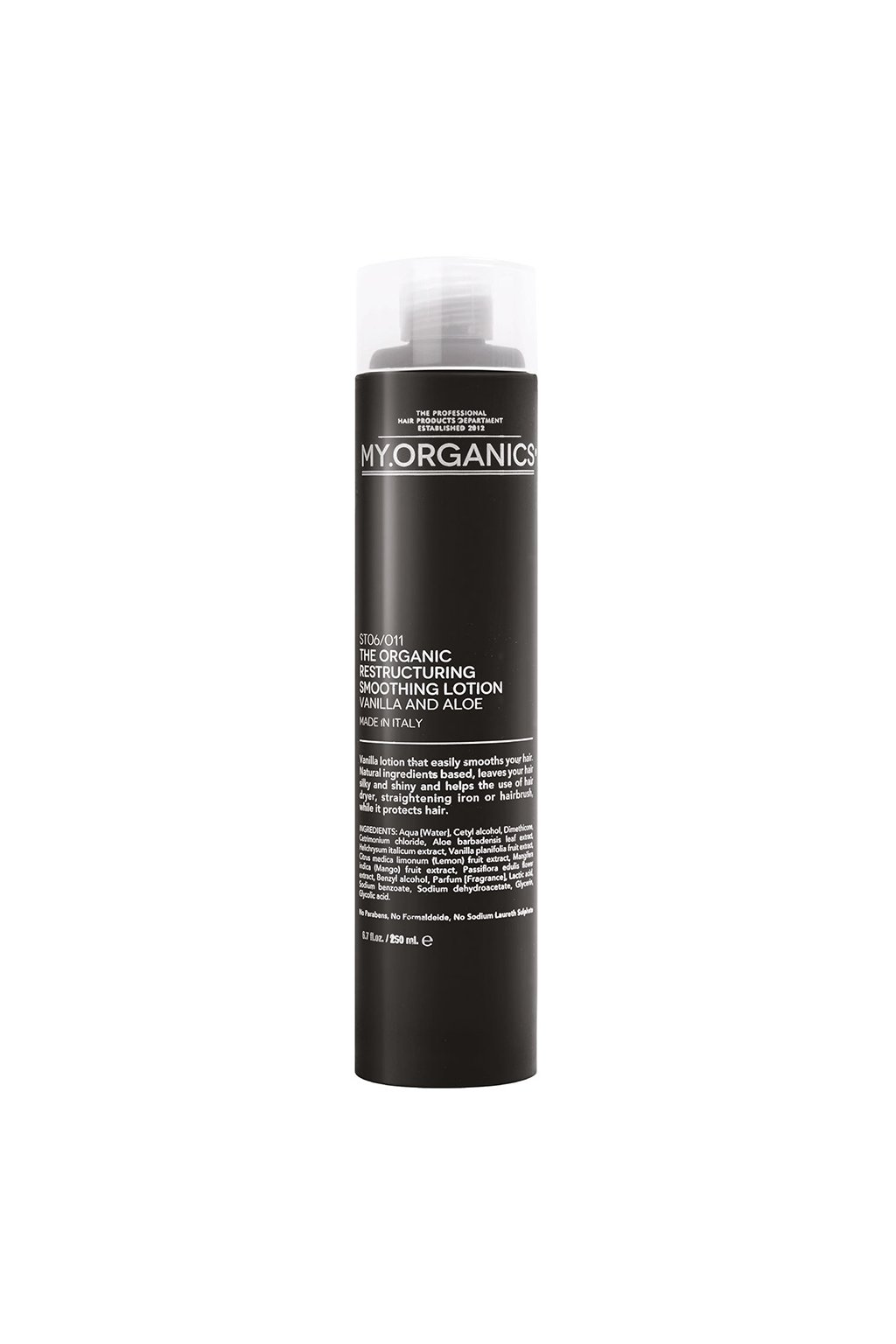 THE ORGANIC RESTRUCTURING SMOOTHING LOTION VANILLA AND ALOE