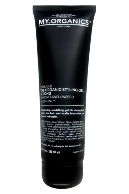 THE ORGANIC STYLING GEL STRONG ALMOND AND LINSEED