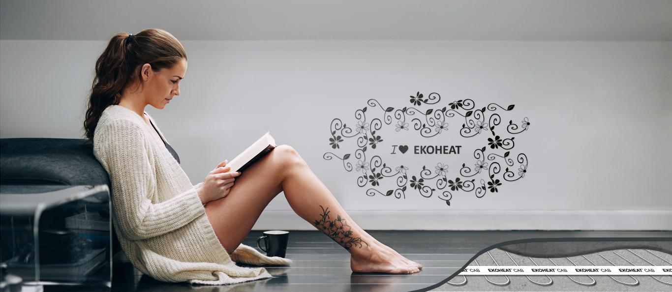 EKOHEAT dívka tetování