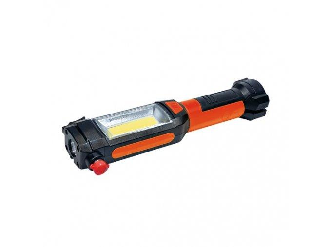 Solight multifunkční LED světlo, 3W COB + 1W LED, klip, magnet, flexibilní, 3x AAA, WL112 1