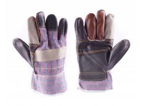 """Arbeitshandschuhe 10"""", Leder mit Textil"""