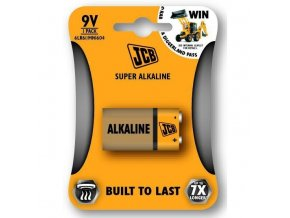 JCB SUPER alkalická baterie 6LR61 9V, blistr 1 ks