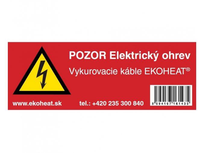 Výstražný štítok EKOHEAT SK