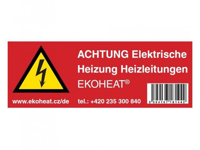 Výstražný štítek EKOHEAT DE