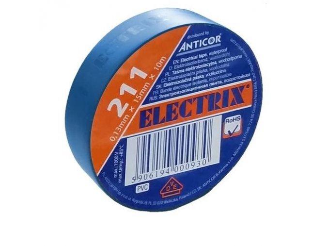 Izolační páska PVC 15mm 10m modrá