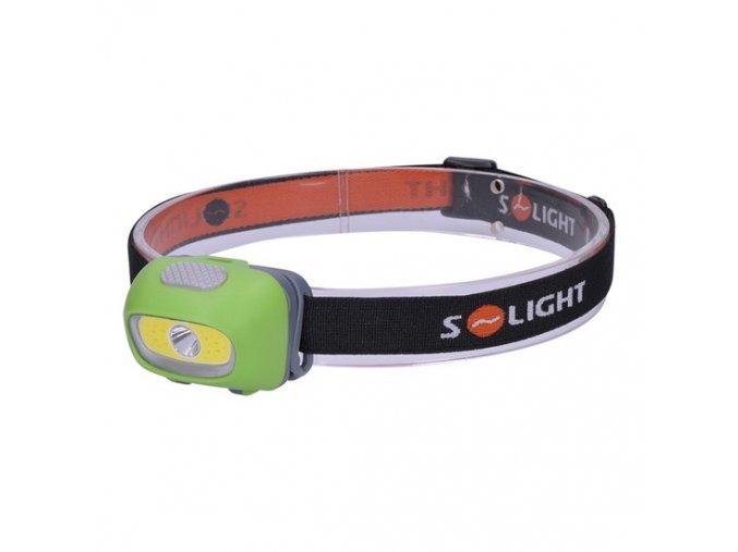 Svítilna čelová LED, 3W Cree + 3W COB, 120lm, bílé + červené světlo, 3x AAA, Solight WH24 1