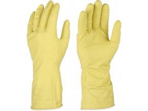 rukavice úklidové latexové