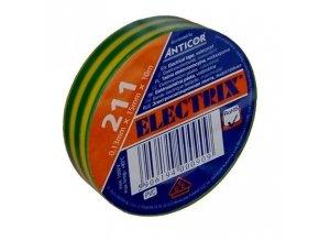 Izolační páska PVC 15mm 10m zelenožlutá