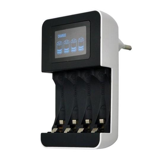 Nabíječka s LCD displejem Solight DN25, AC 230V, 450mA, 4 kanály, AA/AAA, řízená mikroprocesorem