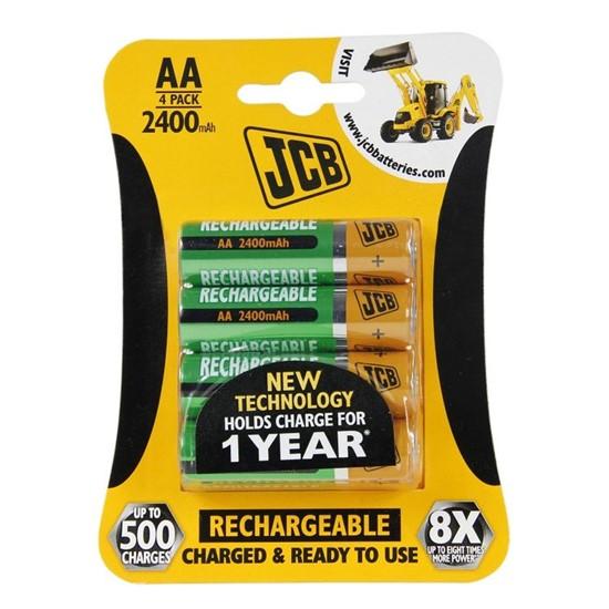 Nabíjecí baterie AA JCB NiMH 2400mAh, 4 ks