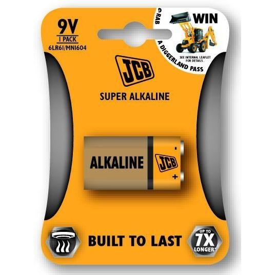 JCB SUPER alkalická baterie 6LR61/9V, blistr 1 ks