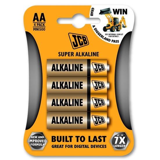 JCB SUPER alkalická baterie LR06, AA, blistr 4 ks