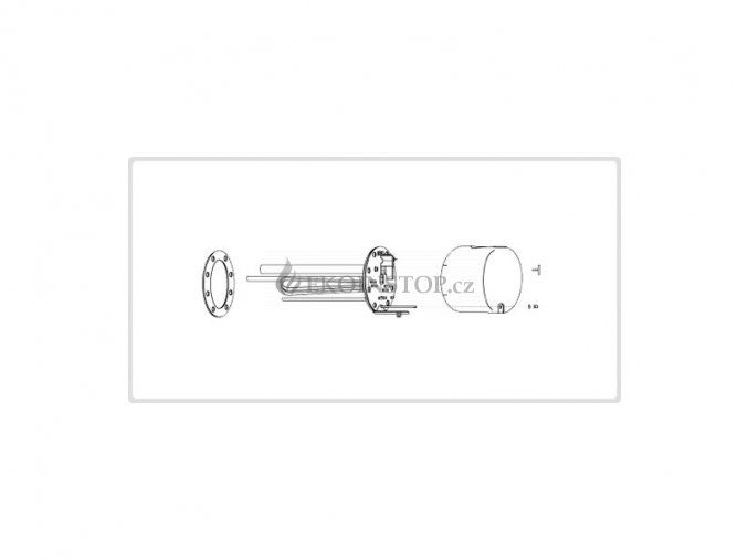 Dražice RDW/RDU 18-7,5 topná jednotka přírubová