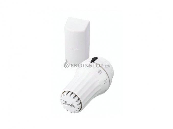 Danfoss RAE termostatická hlavice  s odděleným čidlem, bílá upínací objímka