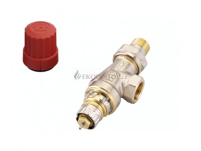 """Danfoss  RA-N 10 UK = 3/8"""" termostatický ventil úhlový"""