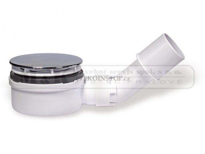 Sifon 90 EXTRA pro sprchovou vaničku nízký - chrom