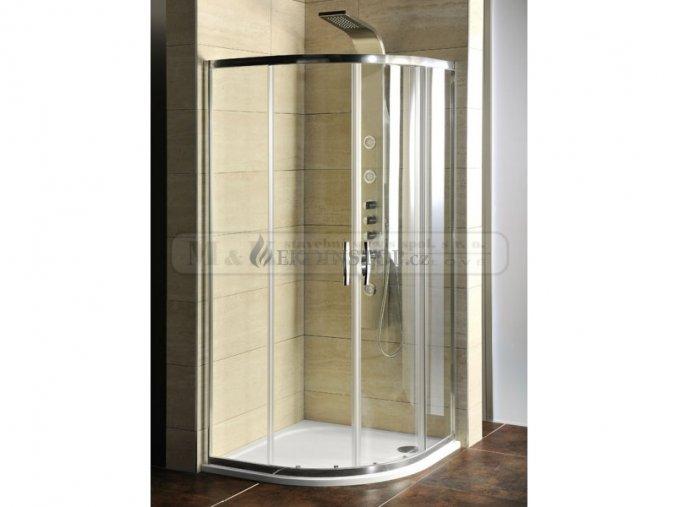 Sprchový kout GELCO čtvrtkruhový s vaničkou z litého mramoru SEMI 90 x 90