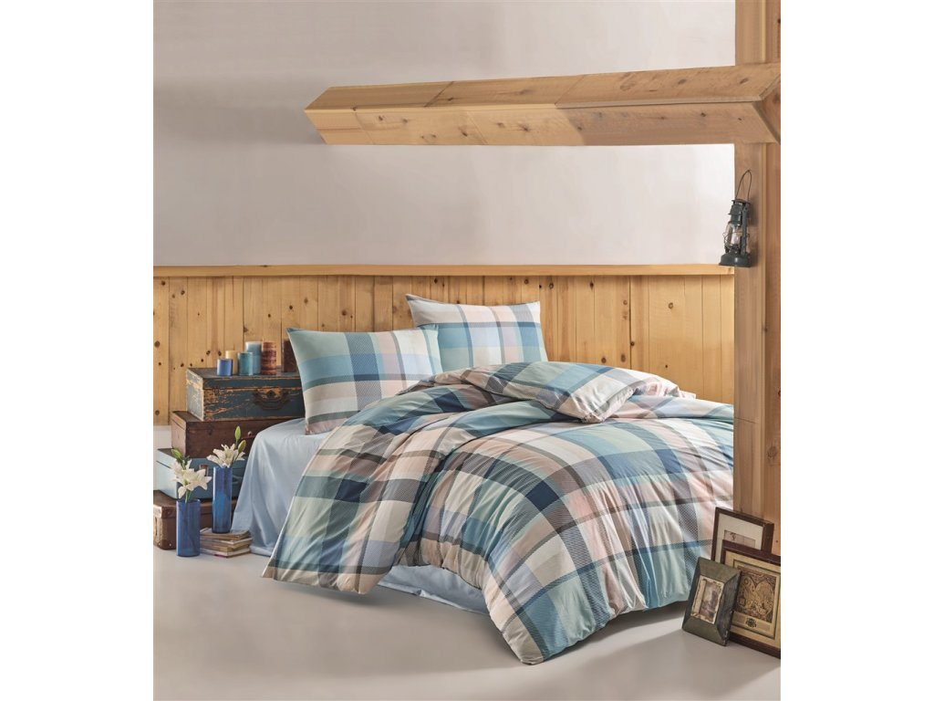 Brotex Povlečení bavlna 140x200, 70x90cm Carla blue