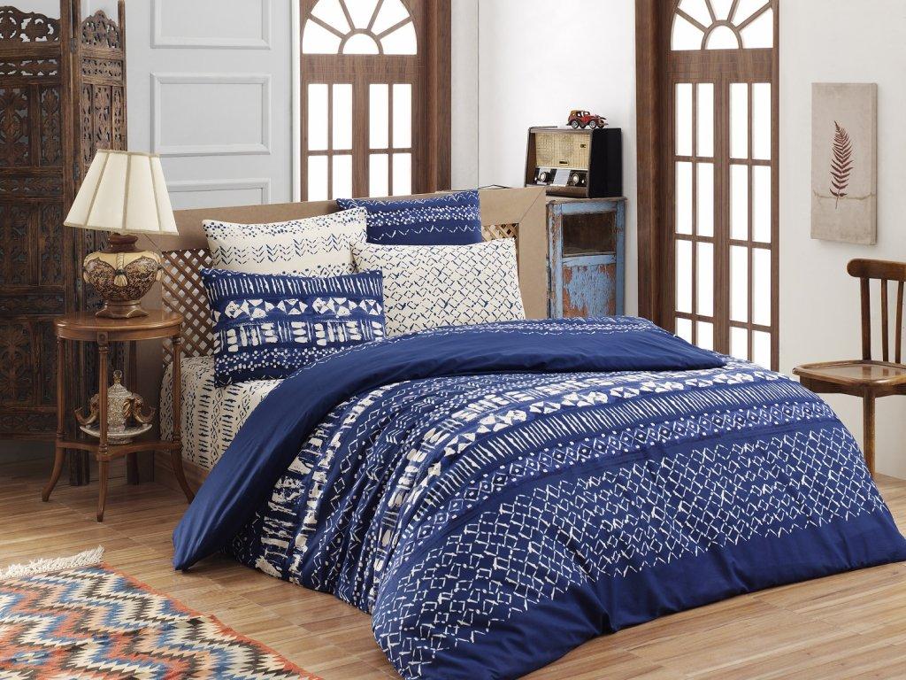 Brotex Prodloužené povlečení bavlna 140x220, 70x90cm Laguna blue