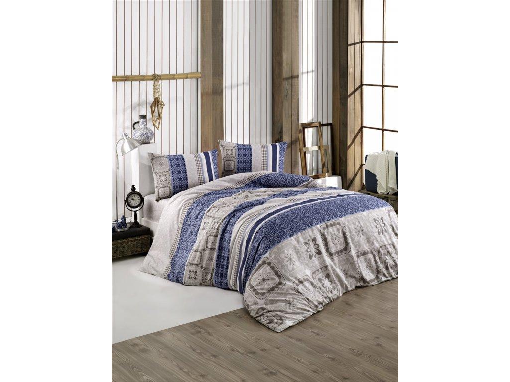 Brotex Prodloužené povlečení bavlna 140x220, 70x90cm Scarlet blue