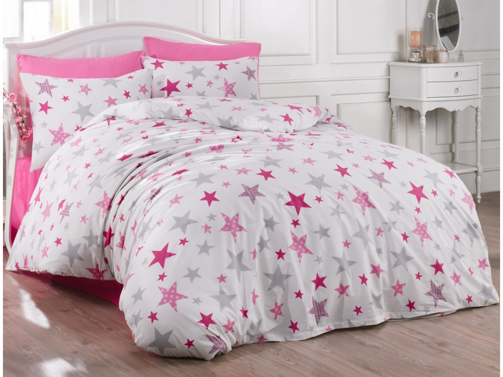 Brotex Povlečení bavlna 140x200, 70x90cm Galaxy pink