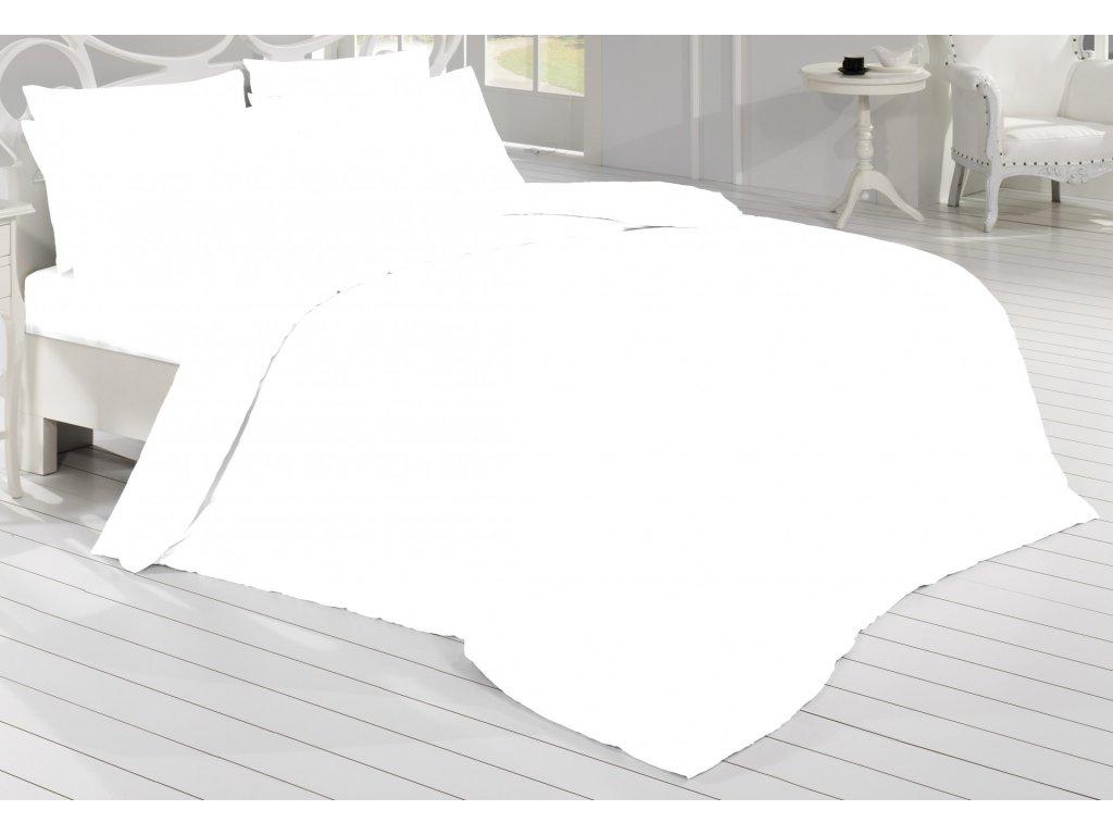 Brotex Prodloužené povlečení Satén 140x220, 70x90cm bílá