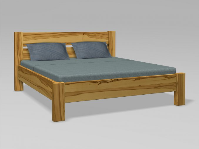 postel z masivu-dvoulůžko