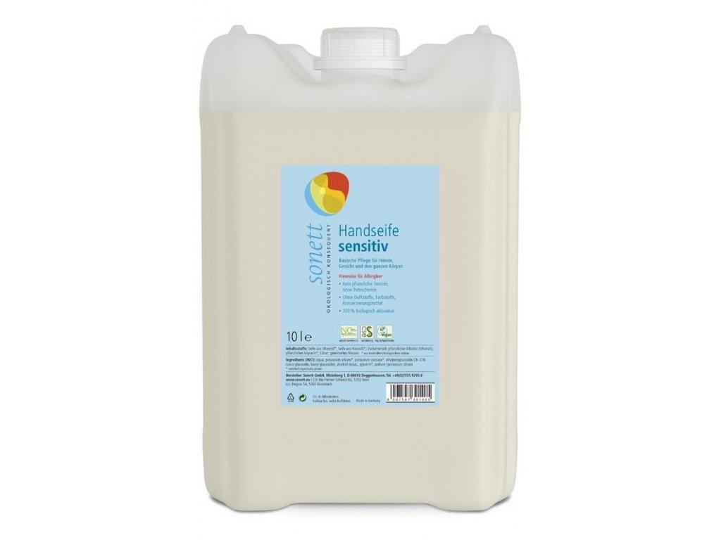 19B32826 DBF9 4785 AEFB B8B01B8C3E97 sonett tekute mydlo na ruce sensitiv 10l