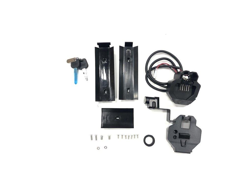 Držák plně integrované baterie s tlačítkem pro vyjmutí, modely 7.5, 8.5, 9.5, motor M400
