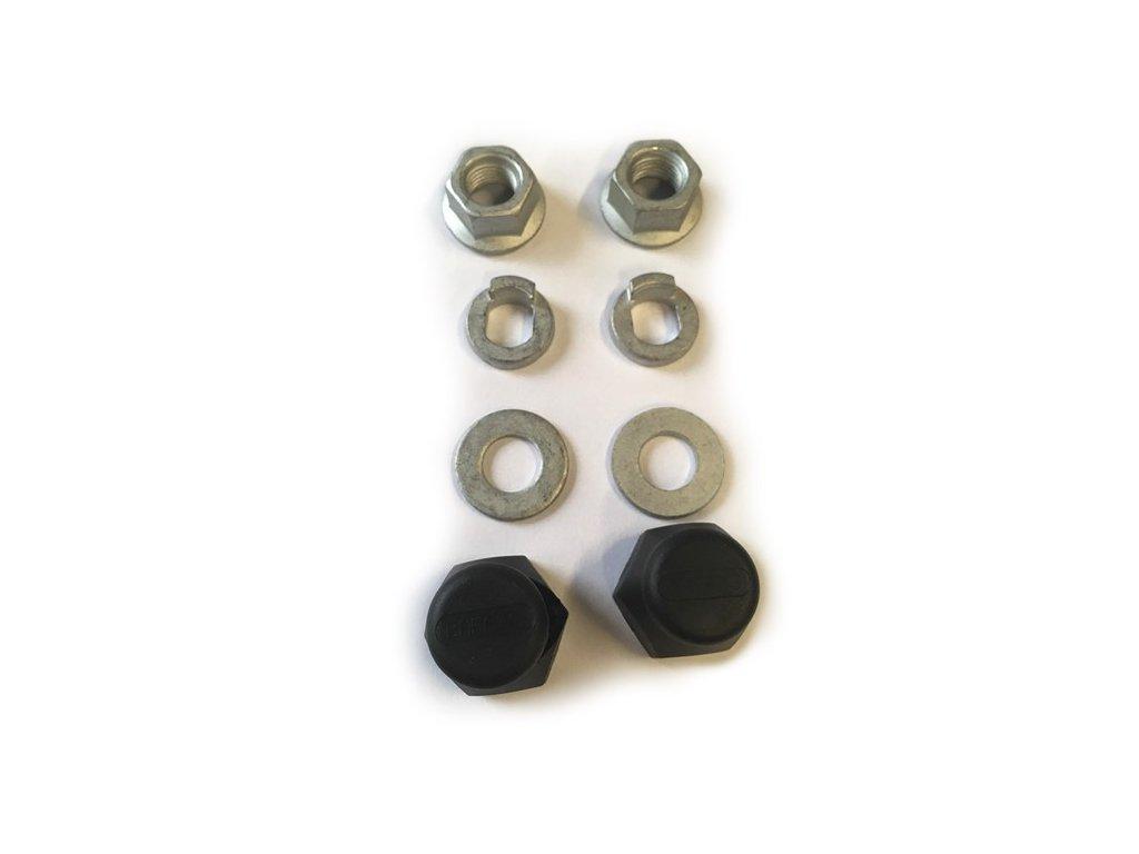 Náhradní matice, podložky, krytky matice pro nábojový motor