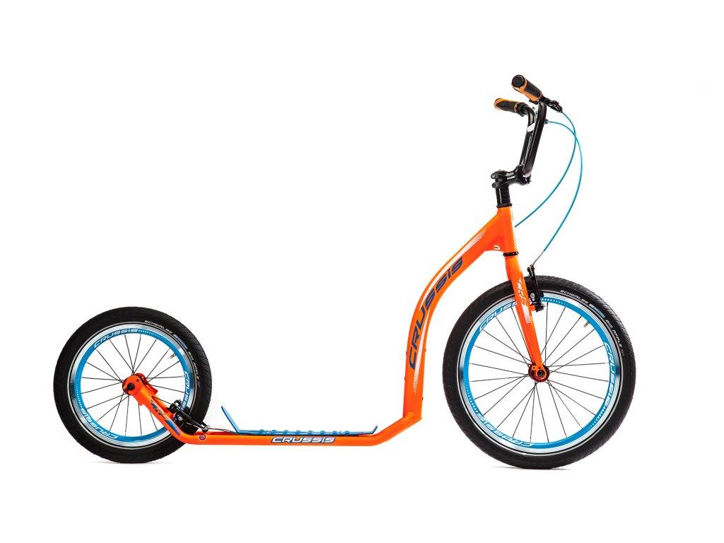 Koloběžka ACTIVE 4.2 oranžová s modrým nášlapem