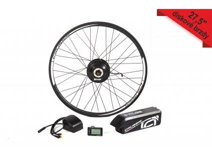 """Elektrosada pre 27,5"""" bicykel, diskové brzdy, rámová batéria"""