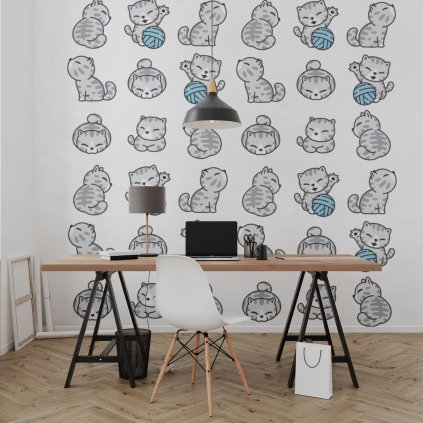 tapeta mockup of the wallpaper behind a neat and modern desk 2702 el1 (6)
