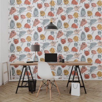 tapeta mockup of the wallpaper behind a neat and modern desk 2702 el1 (4)