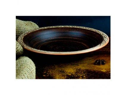 тарелка полупорционка ангоб 550x550w