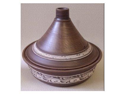 Hrnec keramický Tajine 2,5 L. rizna bela