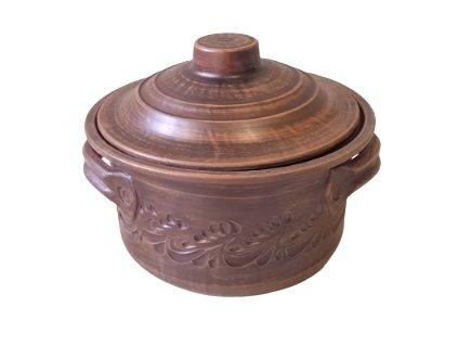 Hrnec, kastrol keramický 2 L. rizna