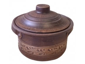 Hrnec, kastrol keramický 2 L. bela