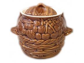 hrnec na pečení keramický 0,6 L. glayur
