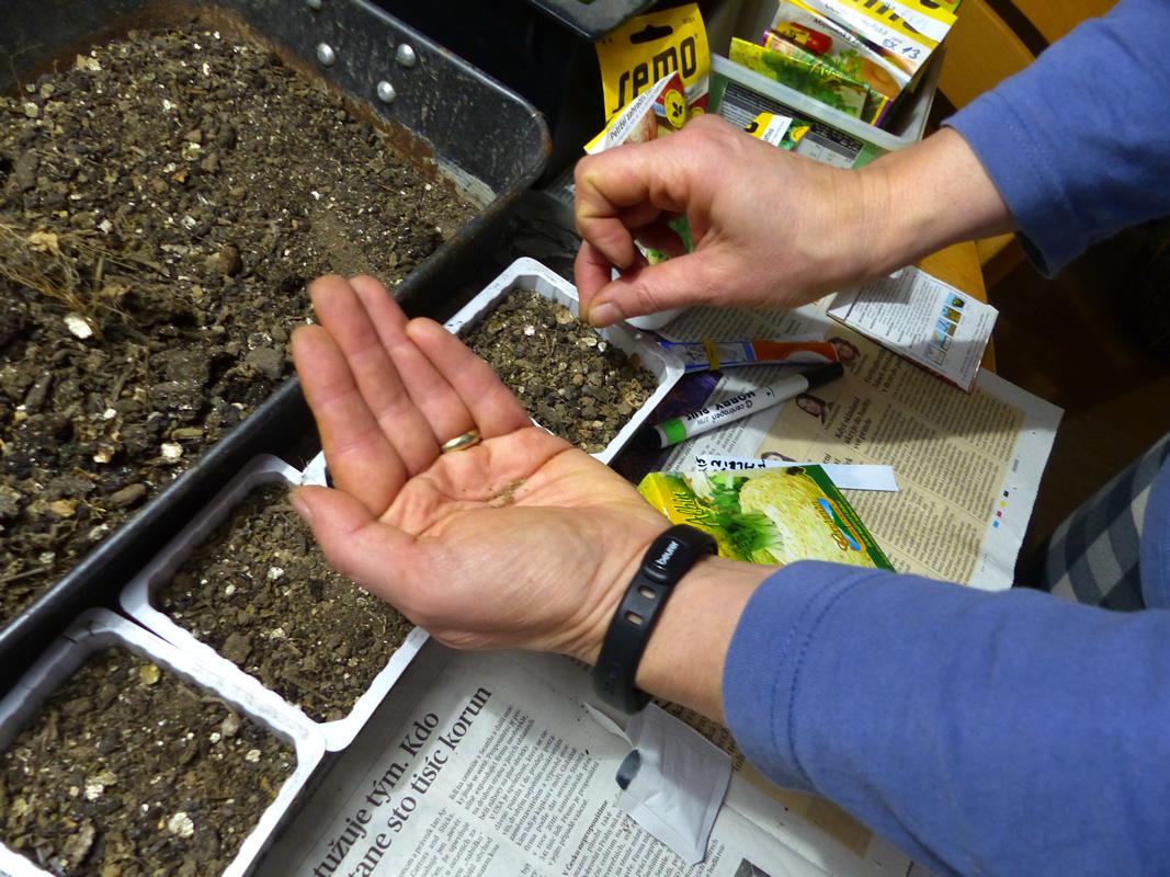Venkovní kompostér nám pomůže při vysévání na jaře.