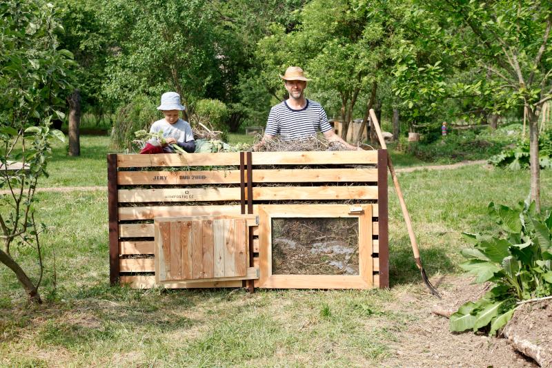 Rychlý dřevený kompostér JeRy