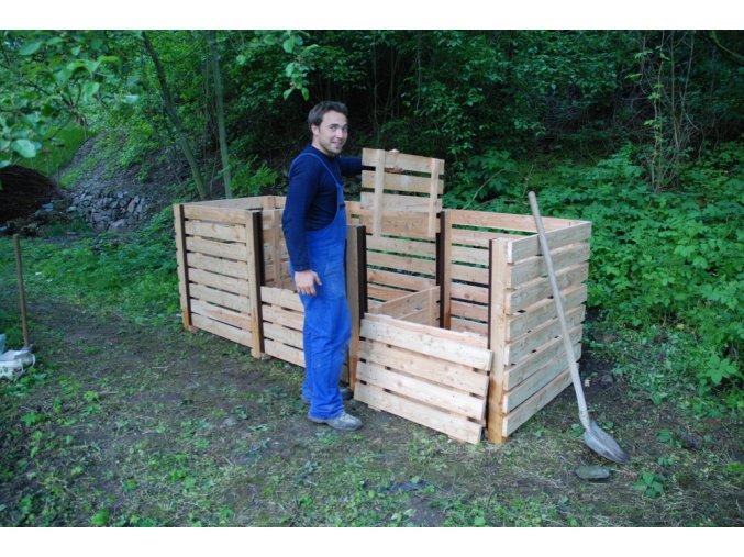 Masivní dřevěný kompostér - Typ 3000