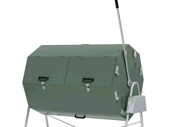 Zateplený otočný kompostér Jora 400 (20 - 30 osob)