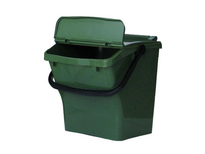 Odpadkový koš URBA PLUS 40l - zelený