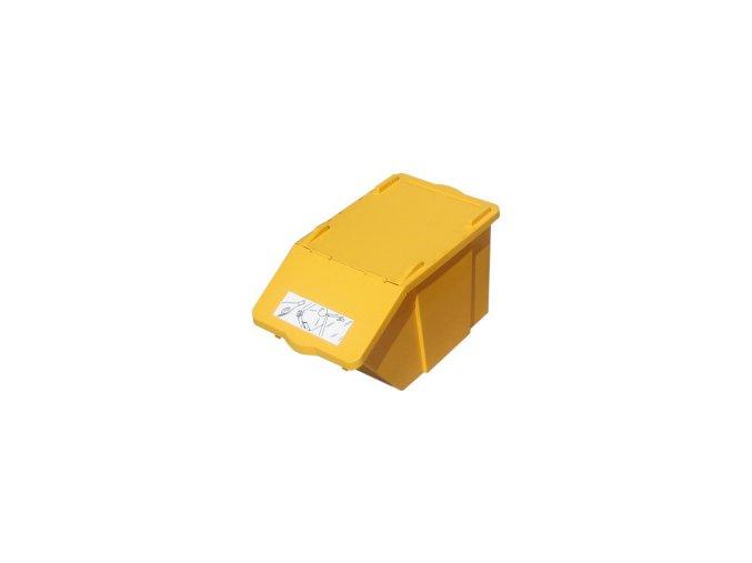 Plastová nádoba na tříděný odpad 45 l - žlutá