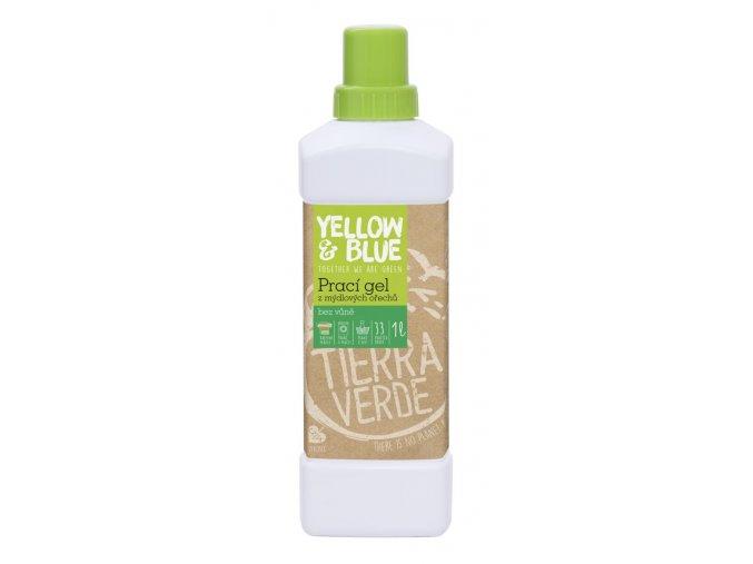 Prací gel z mýdlových ořechů bez parfemace 1 litr
